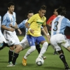 Neymar (centre) did not receive enough support from midfield, believes Tim Vickery