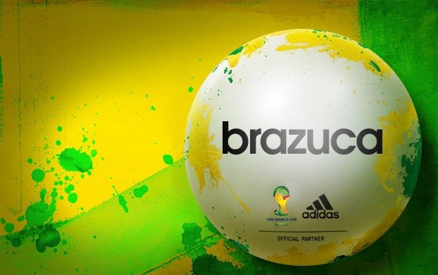Adidas Brazuca ball that has been selected as the official FIFA World Cu 2014 Ball