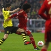 Lewandowski in action against Dante
