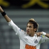Neymar playing for Santos