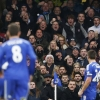 Chelsea's John Terry celebrates scoring their first goal in front of the West Ham United fans at Stamford Bridge on 26th December, 2014