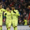 Neymar with Messi and Rakitić