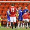 Andreas Pereira scores Manchester United's first goal in their Barclays Under 21 Premier League match against Chelsea at Leigh Sports Village on 9th February, 2015