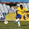 Brazil's Malcom scores a goal against Peru during their 2015 South American Youth Football Championship match at Estadio Centenario on 4th February, 2015