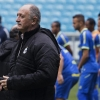 Grêmio manager Luiz Felipe Scolari walks on the field at Arena do Grêmio on 30th July, 2014