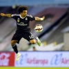 Real Madrid's Marcelo tries to control the ball during their La Liga match against Celta de Vigo at Balaídos on 26th April, 2015
