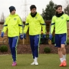 Chelsea's Oscar, Diego Costa and Filipe Luís arrive for training at Cobham Training Ground on 16th February, 2015
