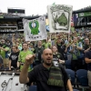 Seattle Sounders fans during their friendly with Tottenham Hotspur at CenturyLink Field on 19th July, 2014