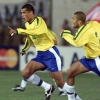 Rivaldo in action for Brazil